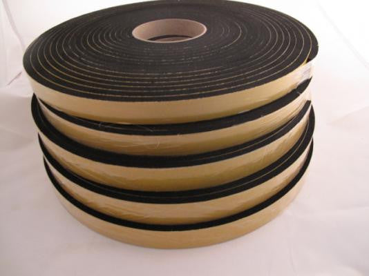 Self-adhesive sponge rubber strips