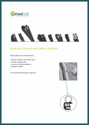 Card door and boot lid seals brochure