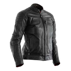 Women's RST Black Leather Motorcycle Jacket