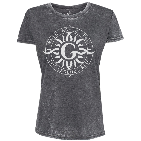 Radial Black Burnout Ladies Tee