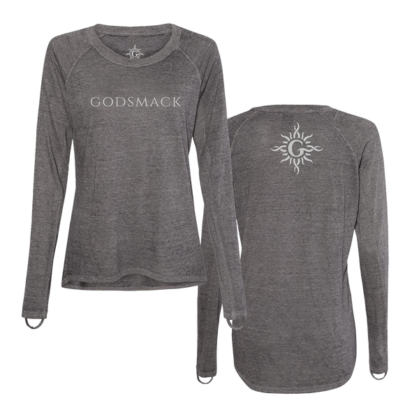 Godsmack Logoed Ladies Hi-Low Long Sleeve Tee