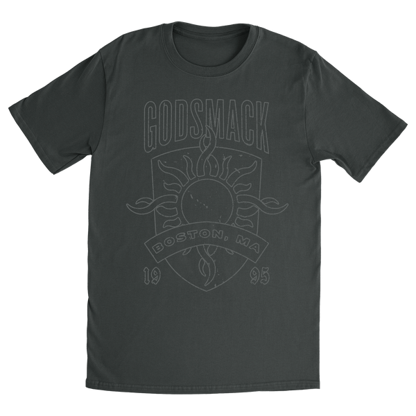 Boston Shield Charcoal Tee