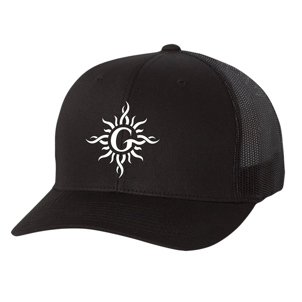 Sun Logo Embroidered Truck Cap