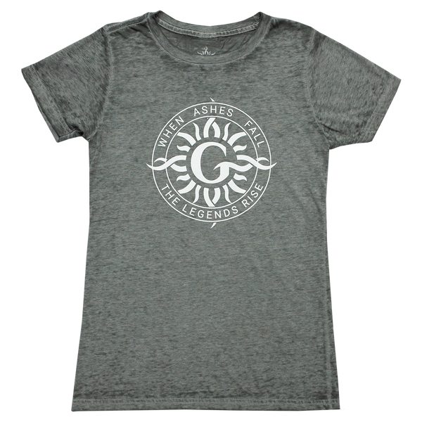 Radial Gray Burnout Ladies Tee