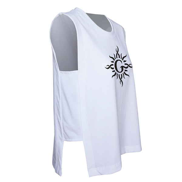 G Sun Logo Ladies Side Tank