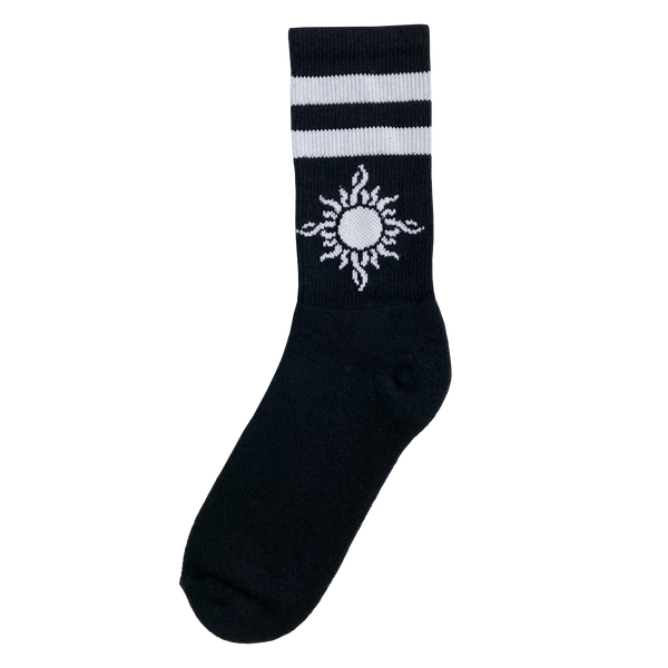 Striped Sun Logo Socks