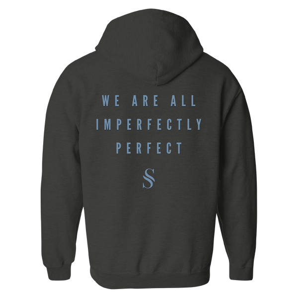 Imperfectly Perfect Charcoal Heather Zip Hoodie