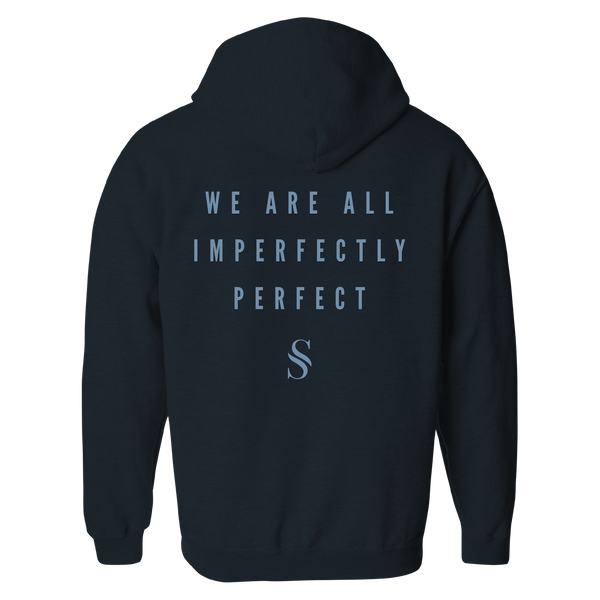 Imperfectly Perfect Navy Zip Hoodie