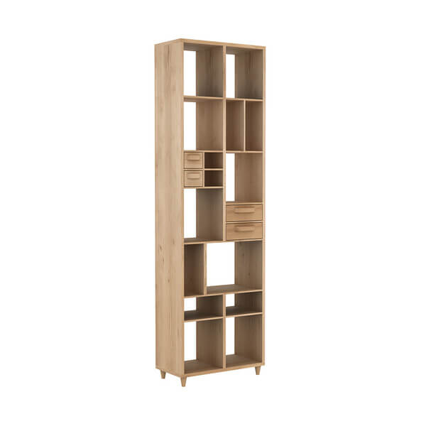 ETHNICRAFT OAK PIRUETTE BOOK SHELF