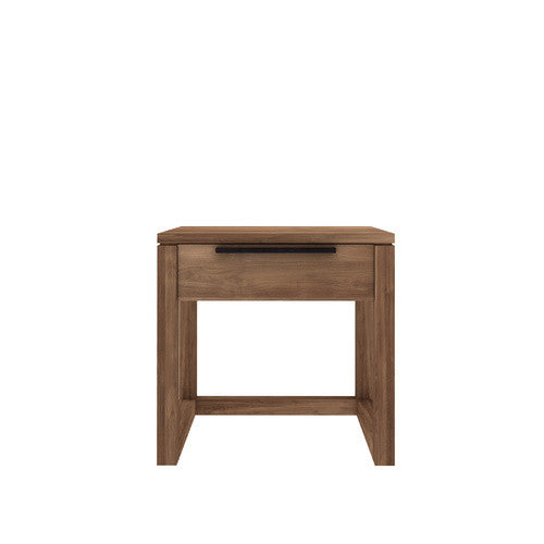 ETHNICRAFT TEAK LIGHT FRAME BEDSIDE TABLE