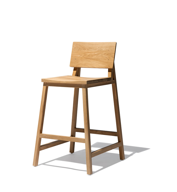 ETHNICRAFT OAK N3 KITCHEN STOOL - The Banyan Tree Furniture & Homewares