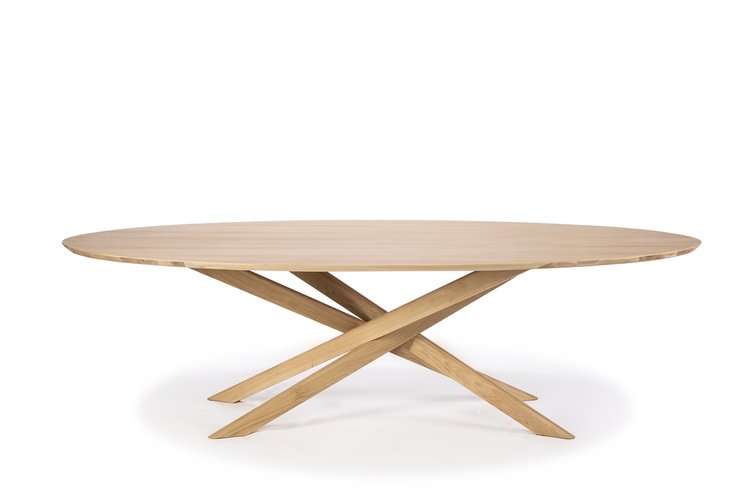 ETHNICRAFT OAK MIKADO OVAL DINING TABLE