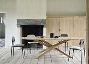 ETHNICRAFT OAK MIKADO OVAL DINING TABLE - The Banyan Tree Furniture & Homewares