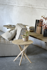 ETHNICRAFT OAK MIKADO SIDE TABLE - The Banyan Tree Furniture & Homewares