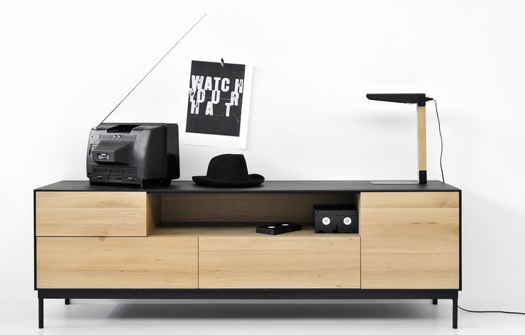 ETHNICRAFT OAK BLACKBIRD TV UNIT - The Banyan Tree Furniture & Homewares