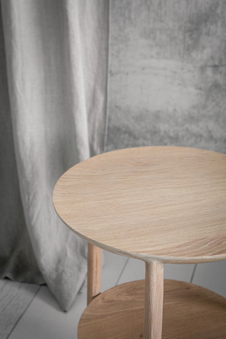 ETHNICRAFT OAK BOK SIDE TABLE