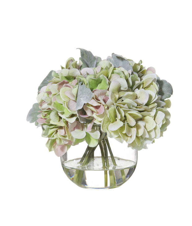HYDRANGEA BOUQUET GLASS FISH BOWL