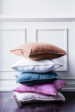 LINEN CUSHIONS VARIOUS COLOURS 50 X 50CM