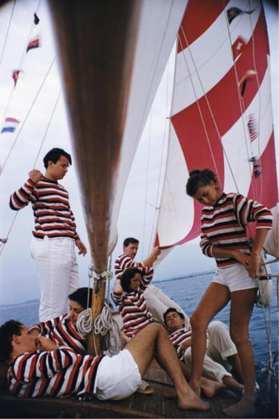 ADRIATIC SAILORS · SLIM AARONS FRAMED PRINT