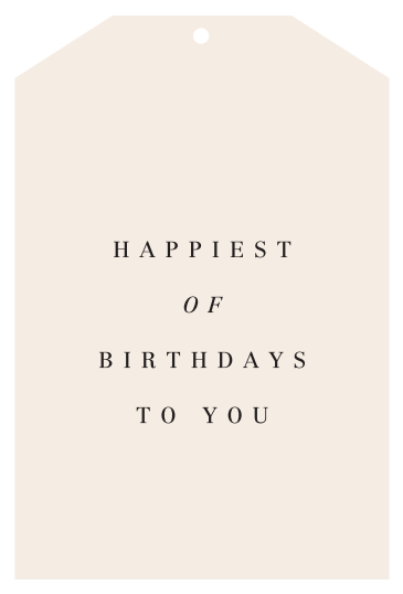 HAPPIEST OF BIRTHDAYS | GIFT TAG - The Banyan Tree Furniture & Homewares