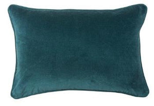 VELVET CUSHIONS VARIOUS COLOURS 40 X 60CMS