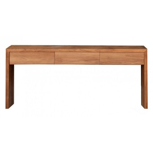 TEAK KUBUS STUDY DESK | 3 DRAWERS