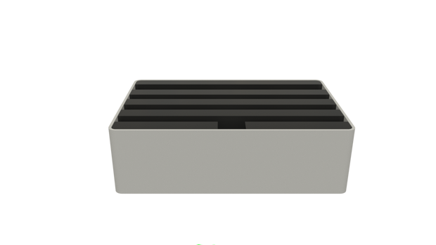 ALL DOCK MEDIUM - ALUMINIUM SILVER BASE | BLACK TOP