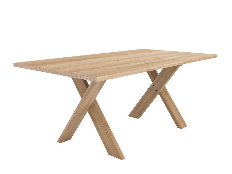 ETHNICRAFT OAK PETTERSSON DINING TABLE - The Banyan Tree Furniture & Homewares