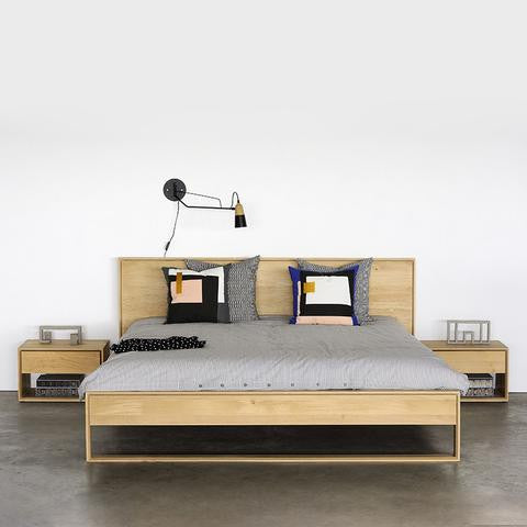 ETHNICRAFT OAK NORDIC BED - The Banyan Tree Furniture & Homewares