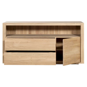 ETHNICRAFT OAK SHADOW CHEST OF DRAWERS