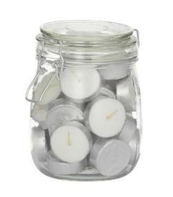 TEA LIGHT CANDLES IN JAR