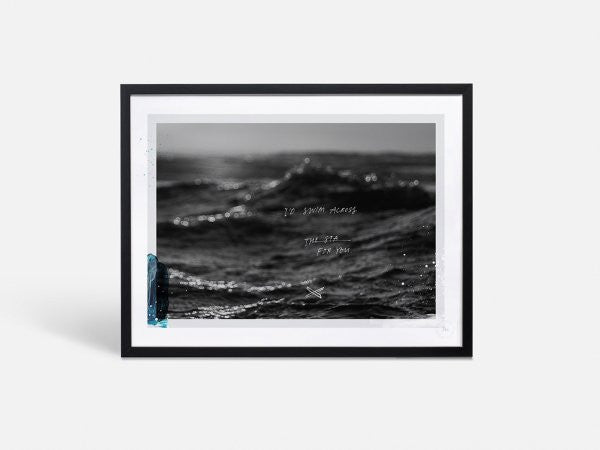 SWIM ACROSS THE SEA · FRAMED PRINT LIMITED EDITION 1/50