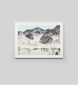FADED HILLSIDE · FRAMED PRINT