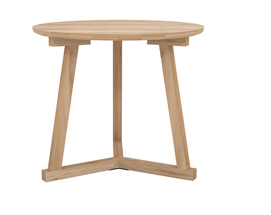 ETHNICRAFT OAK TRIPOD LAMP TABLE - The Banyan Tree Furniture & Homewares