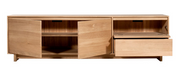 ETHNICRAFT OAK WAVE TV STAND - The Banyan Tree Furniture & Homewares