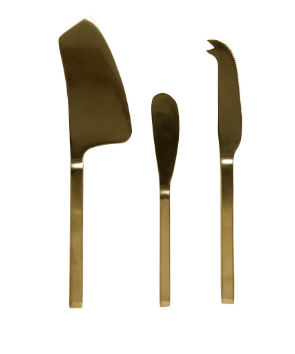 ASTA 3 PIECE CHEESE SET | BRASS