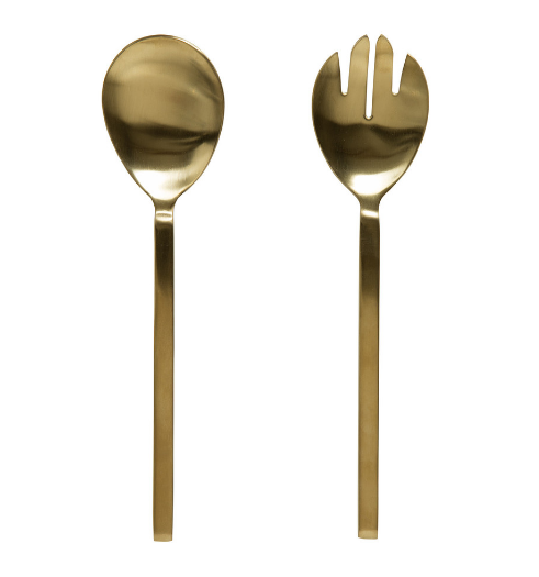 ASTA SALAD SERVERS | BRASS