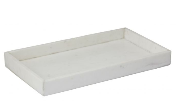 CARARRA MARBLE RECTANGLE TRAY - The Banyan Tree Furniture & Homewares