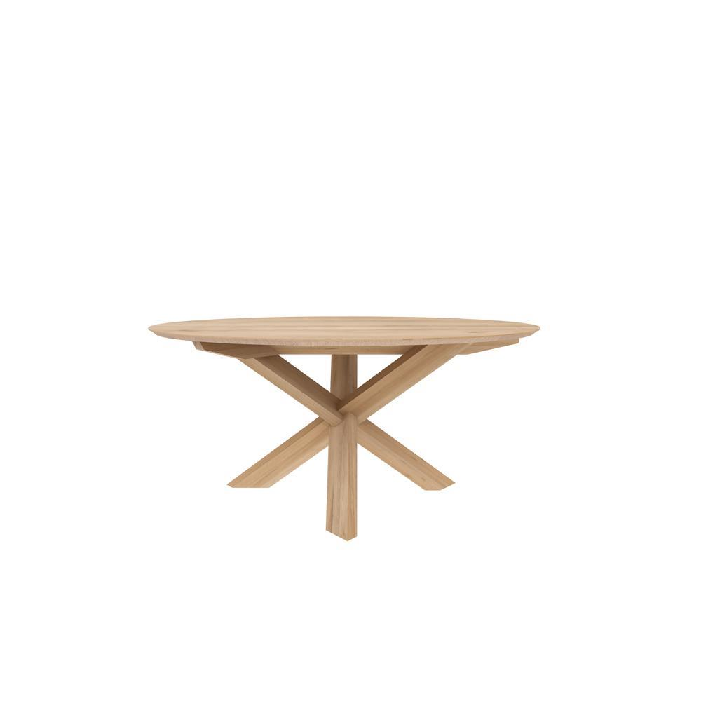 ETHNICRAFT OAK ROUND DINING TABLE