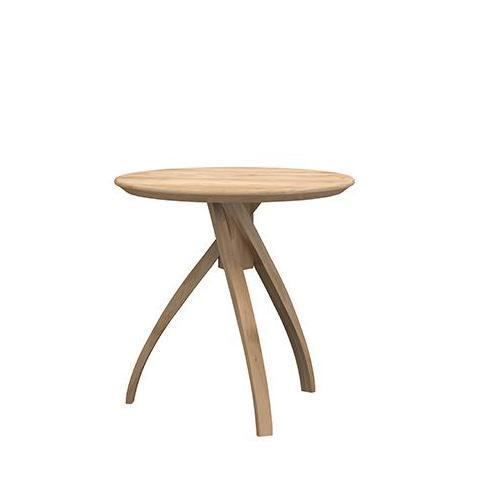ETHNICRAFT OAK TWIST SIDE TABLE