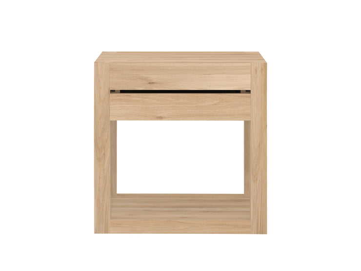 ETHNICRAFT OAK AZUR NIGHTSTAND - The Banyan Tree Furniture & Homewares