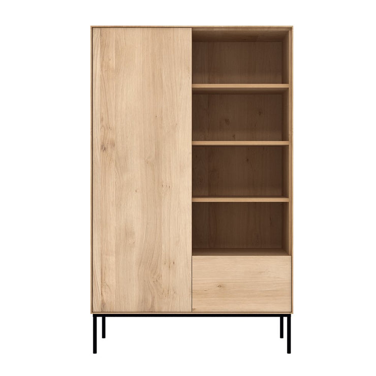 ETHNICRAFT OAK WHITEBIRD STORAGE CUPBOARD - The Banyan Tree Furniture & Homewares
