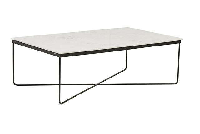 GLOBEWEST TAJ RECTANGULAR MARBLE COFFEE TABLE