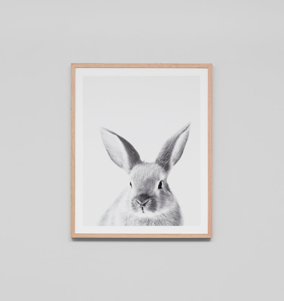 LOVABLE BUNNY · FRAMED PRINT
