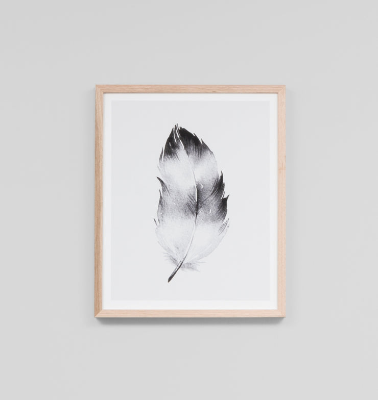 FEATHER BLACK 2 · FRAMED PRINT - The Banyan Tree Furniture & Homewares