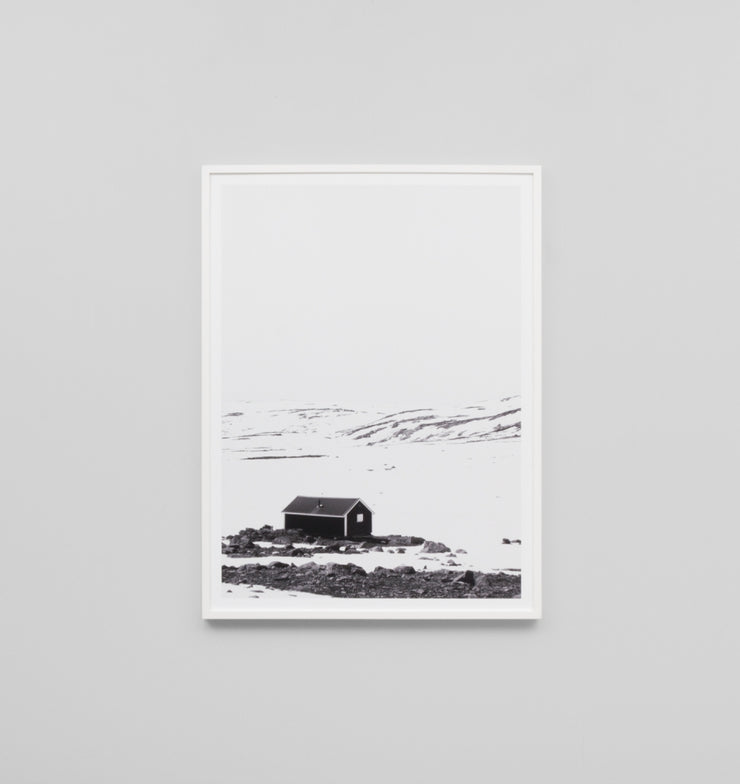 SNOWY COTTAGE · FRAMED PRINT