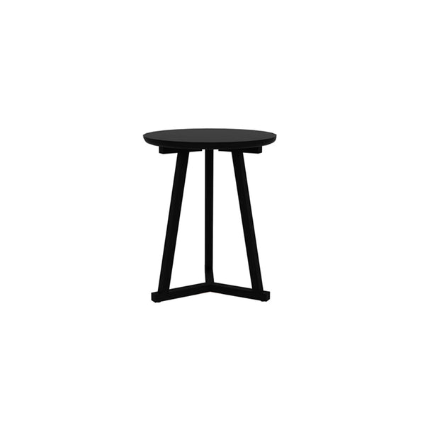 ETHNICRAFT OAK TRIPOD SIDE TABLE | BLACKSTONE