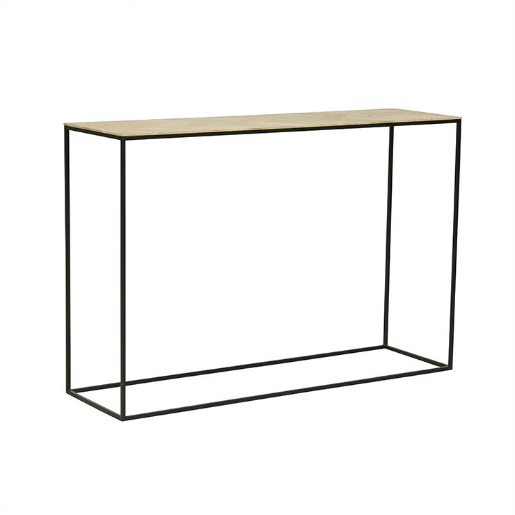 GLOBEWEST HENLEY CHEVRON CONSOLE - The Banyan Tree Furniture & Homewares