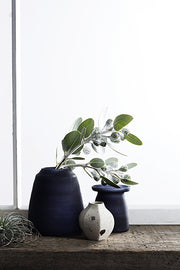 TAPERED VASE BLACK FROST - The Banyan Tree Furniture & Homewares