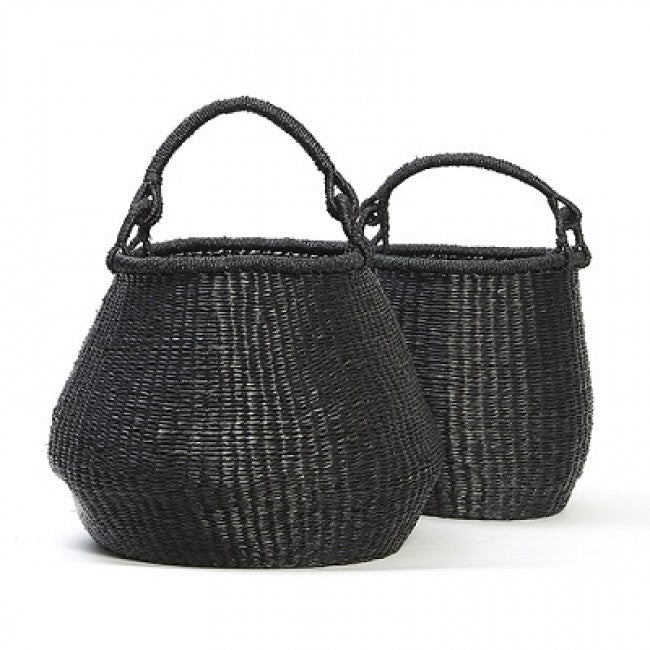 BLACK TUB BASKET